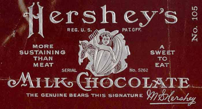 Image result for milton hershey bar